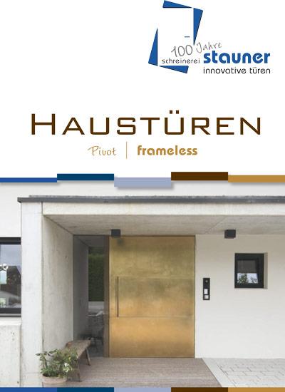 Haustüren Pivot frameless