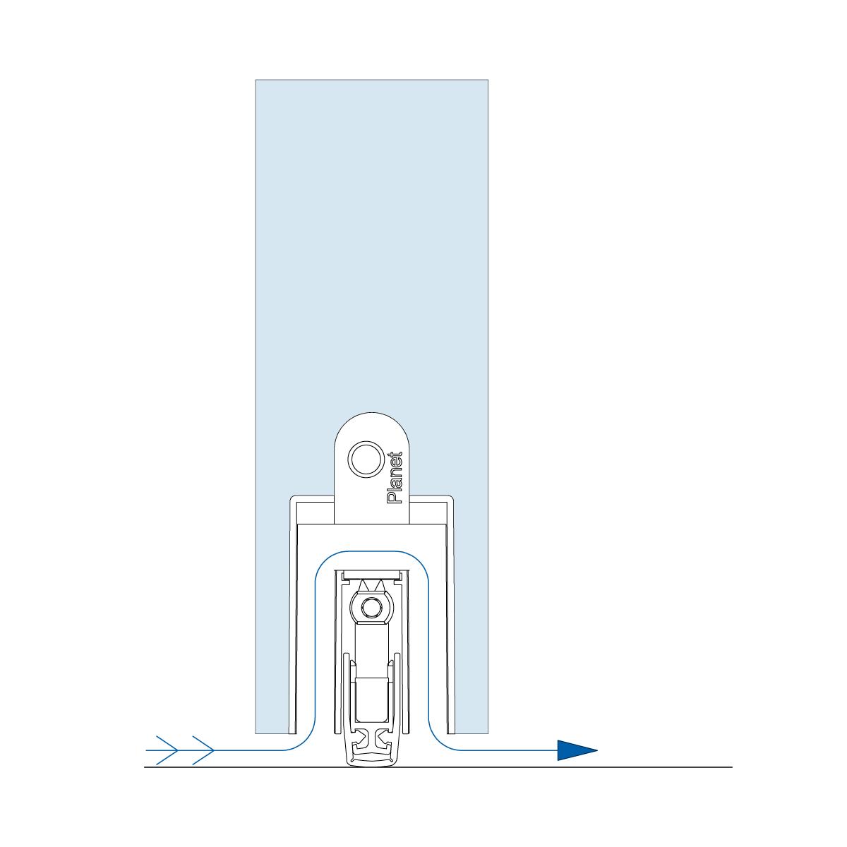 Magnetschließblech verstellbar